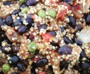 Recipe spicy mexican quinoa with blackbeans by thermo-envy - Recipe of category Main dishes - vegetarian