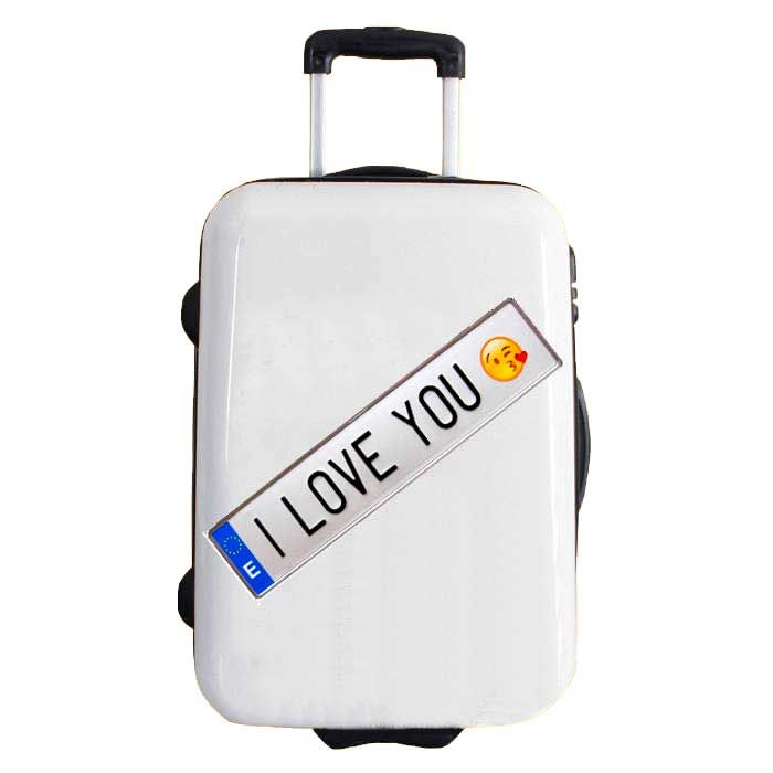 2DIFFER sticker, the best quality vinyl for suitcases, model I LOVE YOU