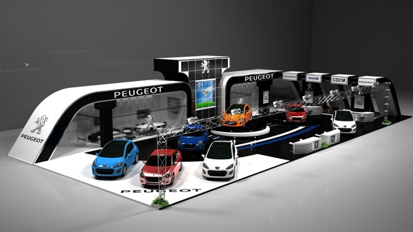 Exhibition Stand Lighting Vehicles : Peug cars exhibition by ahmed rashad via behance booth