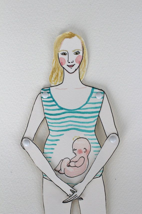 Baby shower gift idea! Paper doll custom made to look like you by LittlePaperClouds, $35.00
