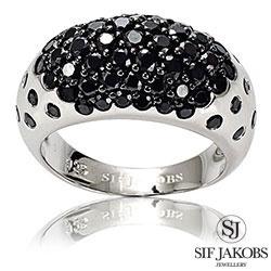 Sif Jakobs Savona ring i rhodineret sterlingsølv - SJ-R10162-BK