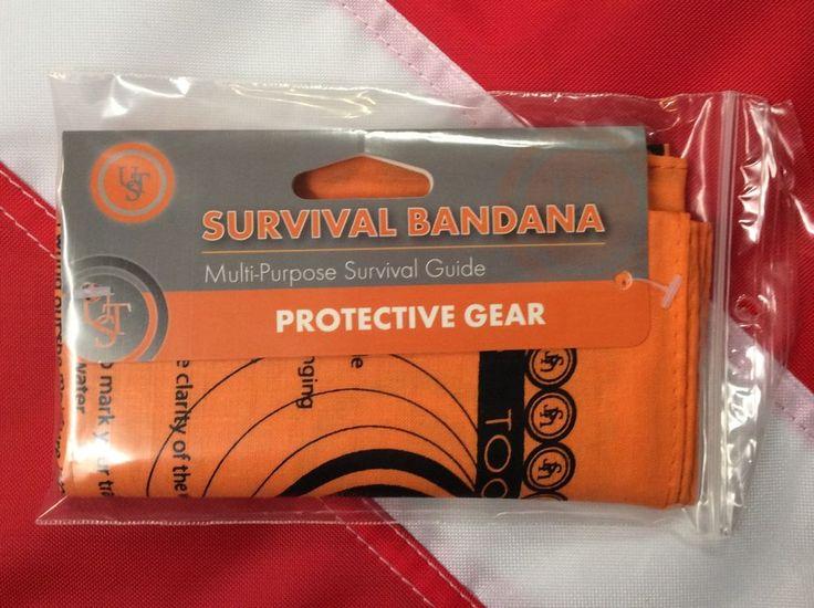 Survival Bandana emergency gear bug out bag tactical kit disaster prepper UST #UST