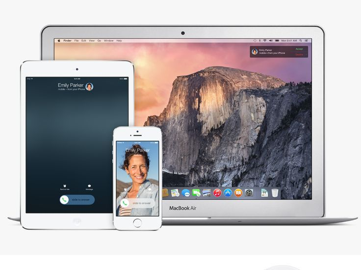 Mac OS X Yosemite: Continuity