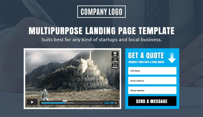 All in one is a Responsive Multi-purpose Landing page Template that can be used for ... A landing page design can impact on your visitors