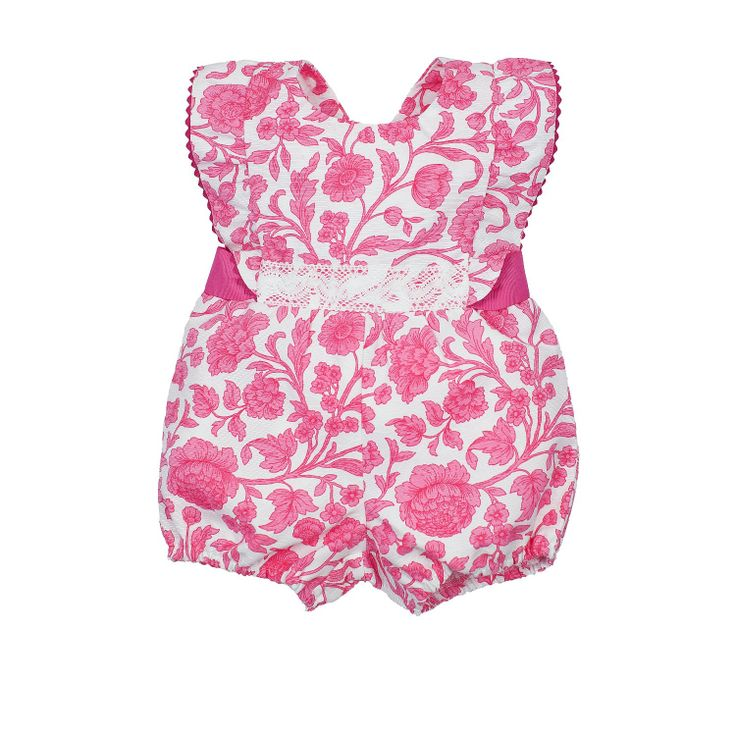 Garden Pink Romper from Lace & Ribbons