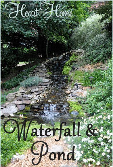 Repinned: DIY Backyard Waterfall & Pond