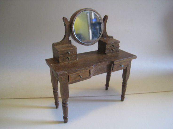 "Vintage Price Import ""Hello Dolly"" Dollhouse Miniature Wood Vanity, Dresser | eBay"