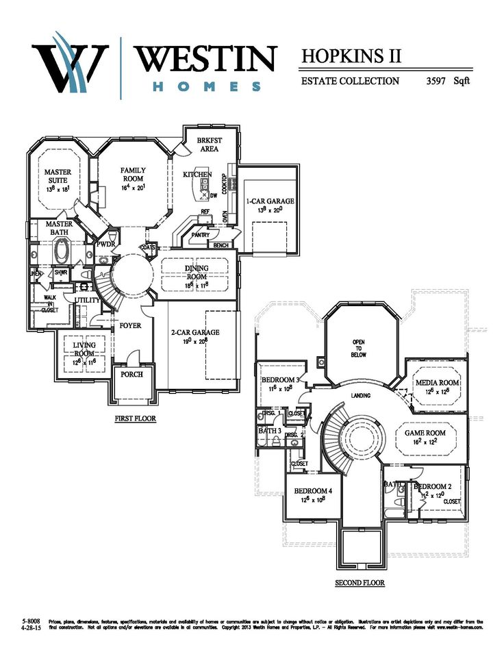Westin Homes Floor Plans Part - 26: Hopkins Plan W/3rd Garage. Westin HomesFloor PlansGarage