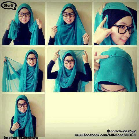 Tutorial hijab # so simple to do