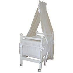 Micuna Juliette Luxe Cradle and Canopy with Swarovski Crystals (White)