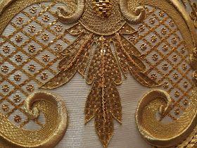 Taller de bordado Sebastián Marchante: Saya de Virgen de los Dolores, Tolox ( Malaga)