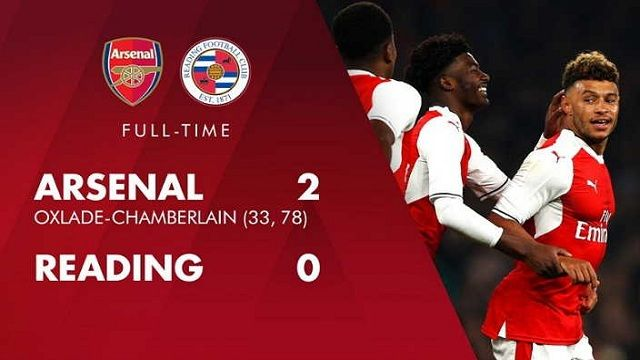 Cuplikan Gol Arsenal vs Reading 2-0 (EFL Cup) Tadi Malam