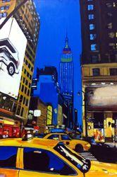 'New York Series No.28', 2011, Acrylic on Board, Angela Wakefield