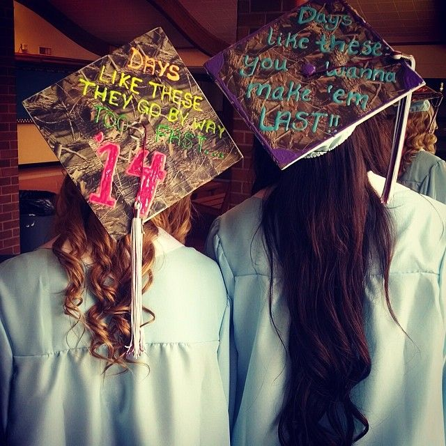 Pin for Later: 30 Adorable Grad Caps For Best Friends Days Like These . . .