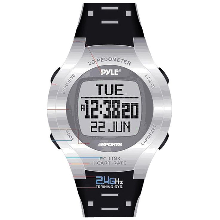 Pyle Sports Heart Rate Monitor Watch with Step Counter, Calories Expenditure and Pc Link >>> Want to know more, click on the image.