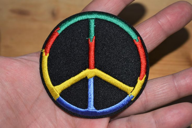 #etsy shop: World Peace - Iron stick Embroidered patch/applique For T-Shirts,Hats,Jackets,Pants, Vintage Collection supreme quality. http://etsy.me/2DThRWd #supplies #birthday #easter #hatmakinghaircrafts #embroideredpatch #ir
