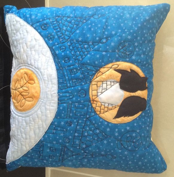 Owl Silhouette Cushion For Sale $35.00 www.catchacreation.com.au Green Gable Quilts
