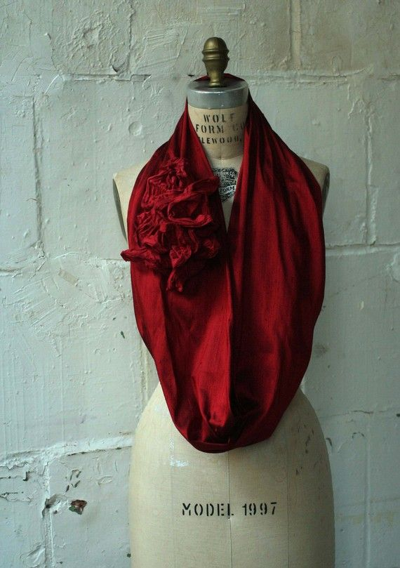 Holiday Gifts Le Cercle Rouge Silk Cowl Red Accessories by artlab, $96.00