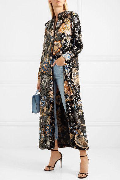6d93b32cca Tory Burch | Agnes embellished floral-print crepe maxi dress |  NET-A-PORTER.COM