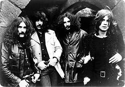 Black Sabbath in 1970. From left to right: Geezer Butler, Tony Iommi, Bill Ward, Ozzy Osbourne.