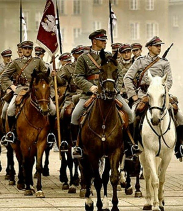 Polish Cavalry in 1939, Poland was the first country to fight back against Hitler and the German forces.
