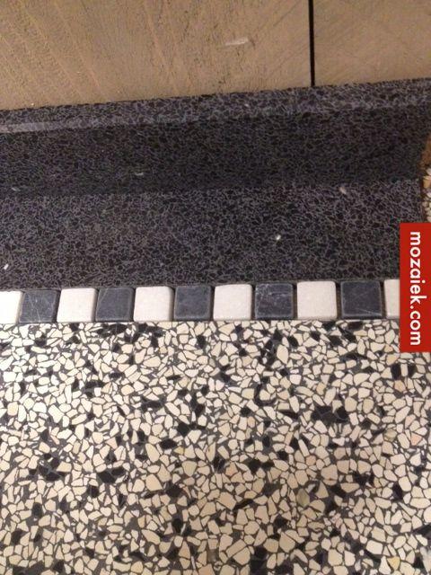 mozaiek.com utrecht – granito tegels 40x40x1,5 cm uit voorraad leverbaar | 3d ontwerp  | monique van waes mozaiek.com  | de zwart wit blokjes zijn te koop via de webshop