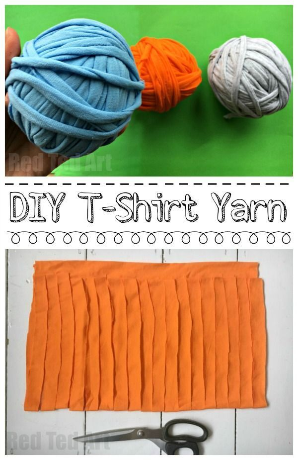 How to make T-Shirt Yarn - Red Ted Art's Blog