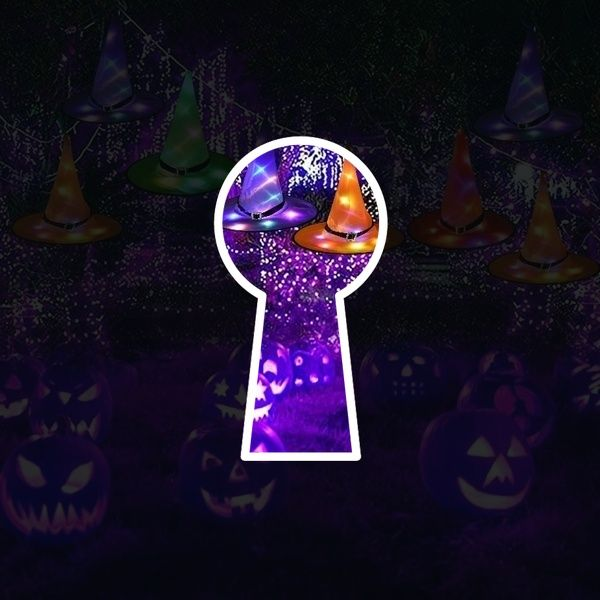Fashion Halloween Witch Hat Led Light Up Glowing In Dark Witches Hat Hanging Halloween Decor Glow Party Sup Glow Party Supplies Glow Party Witches Hats Hanging