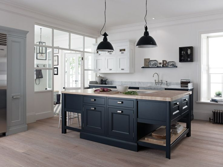 On this website you can see what different colours look like next to a white worktop and neutral floor