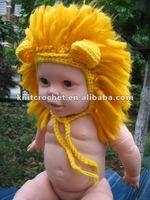 Kids' virka Lion mössa Beanie öronlappar, Baby flicka Hand Stickad mössa, Foto Prop virka djur mössa, gjorde att beställa (KCC-TM0060), Visa virka djur hatt, KCC produkt detaljer från Shangrao sticka virka Craft Factory, bild - OnlyImage.com