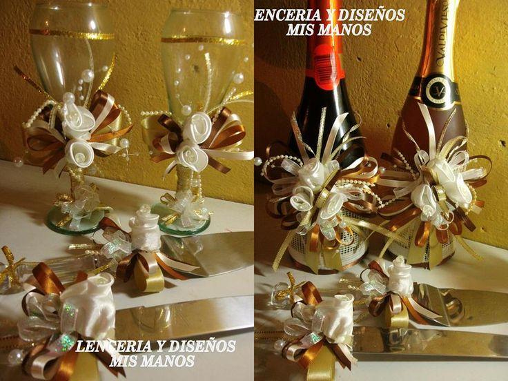 Copas y Botellas decoradas