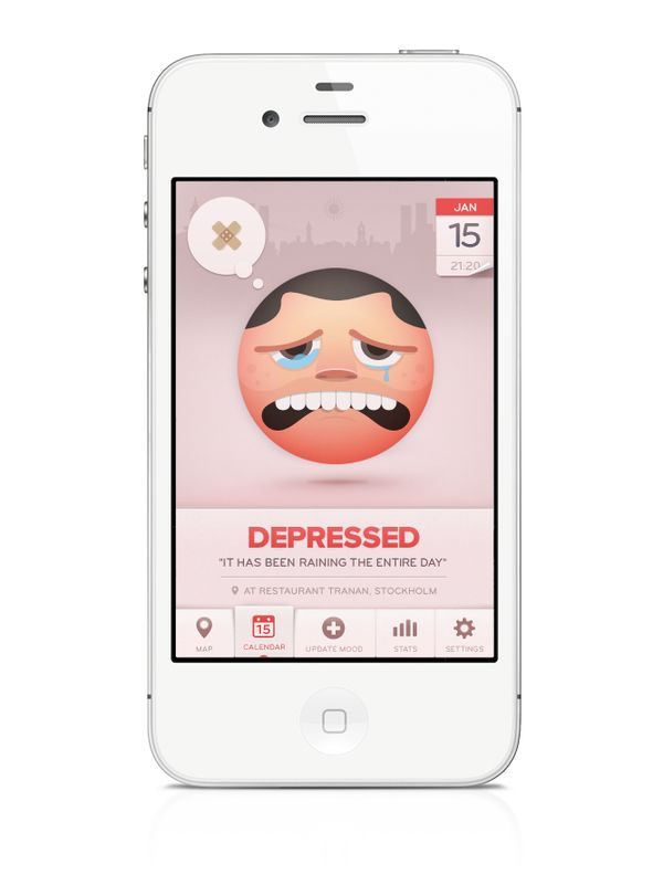 Moodswings is an iPhone app that lets user track his mood through time and location.Anytime the user can enter his current mood by choosing emoticons.He is then able to track his moods during time and location through different types of views, eg. Calendar/ Map View.This gives the user an easy way of seeing when/where/why he feels like he does. Feelings of other users can be viewed on a map - the current mood of larger areas can be overviewed and even specific locations (shops) can be…