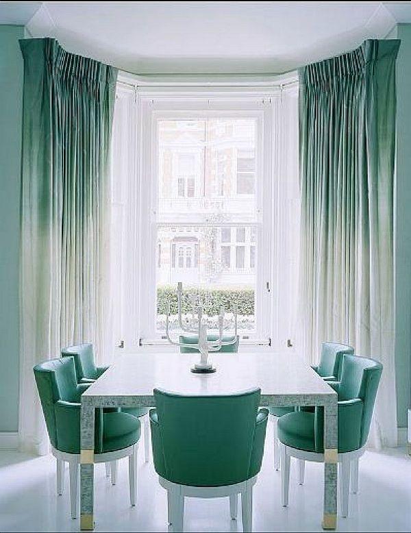 Ombre Aqua Curtains