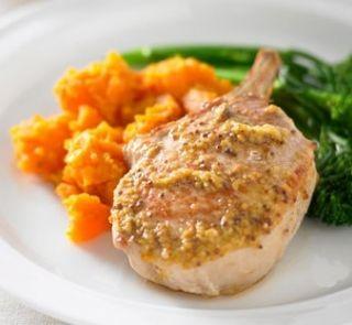 Orange & ginger pork with kumera mash