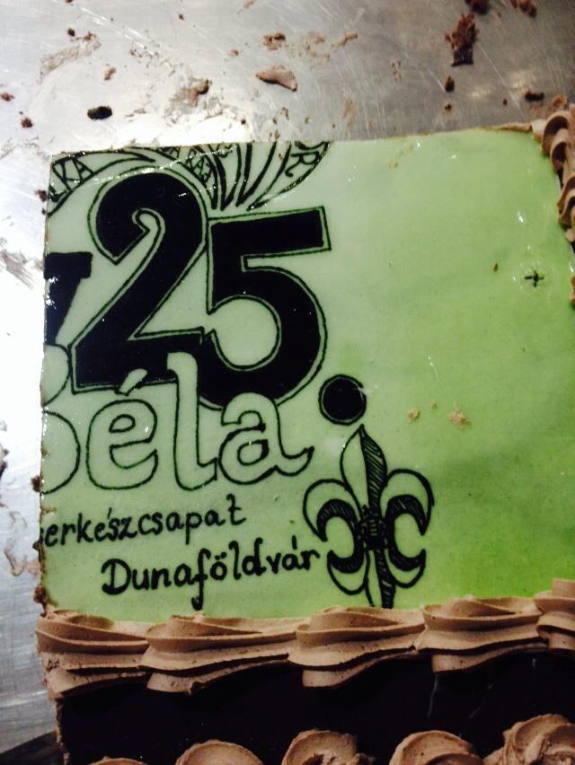 IV. Béla cscs. születésnapi tortája. Legalábbis ami megmaradt belőle. :D