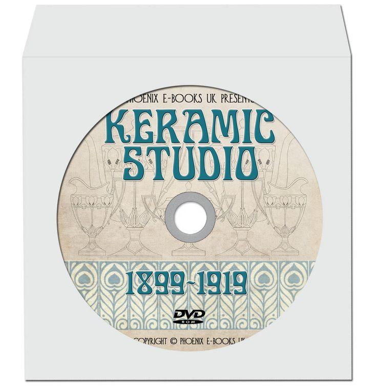 KERAMIC STUDIO 228 issues pdf on DVD-Rom Vintage Art Nouveau, Ceramics, Pottery Magazines by PhoenixEbooksUK on Etsy