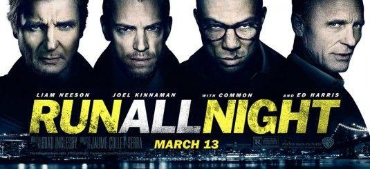 RUN ALL NIGHT (15): Action | Crime | Drama, Dir. Jaume Collet-Serra, US, 2014, 114 mins. Cast:  Liam Neeson, Ed Harris, Joel Kinnaman. Release date: 13/03/15
