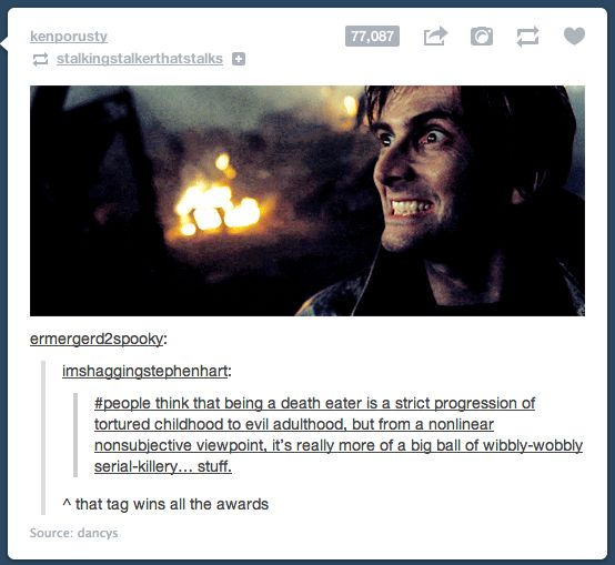 Didn't know if to pin on Doctor Who or Harry Potter... Pinned on both!