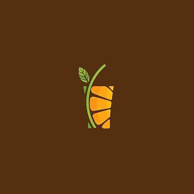 Orange juice logo idea design made by @serbaneka.id #logoplace #graphicdesign…