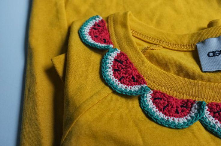Customisation très simple d'un T-shirt #crochet