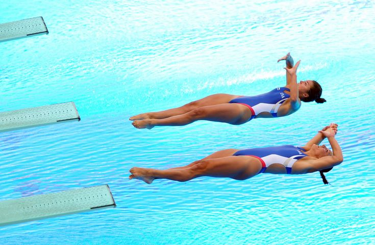 Christina Loukas & Kassidy Cook (USA)  Synchronized Diving - I didn't even know there was synchronized diving.  Can't wait to watch.