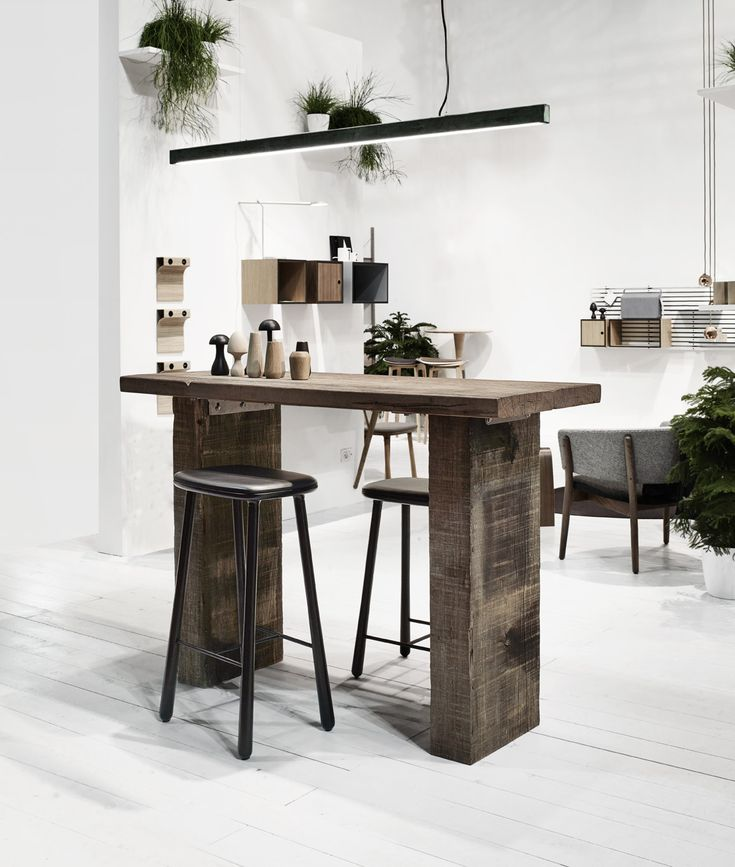 THORS Sif with Anour lamp in Milan 2015 #bartable #consoletable #reclaimedtimber