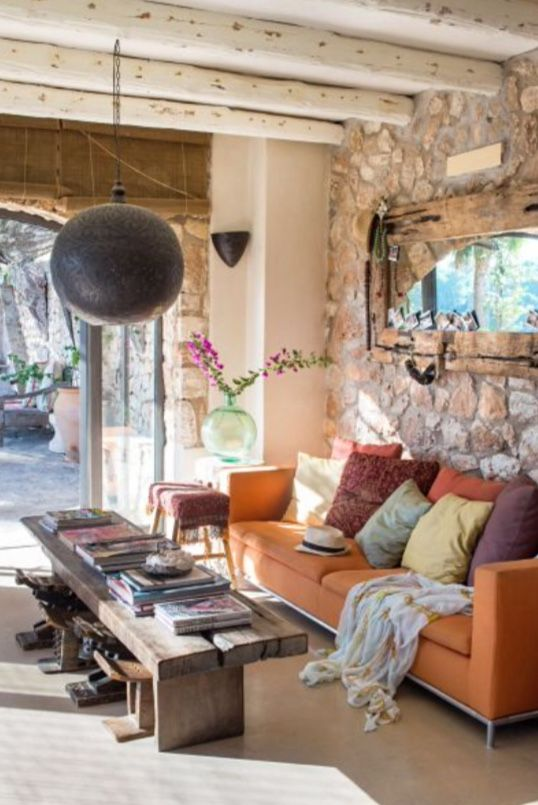 """This happy and sunny living room is from our feature """"Mediterranean Mind"""""""