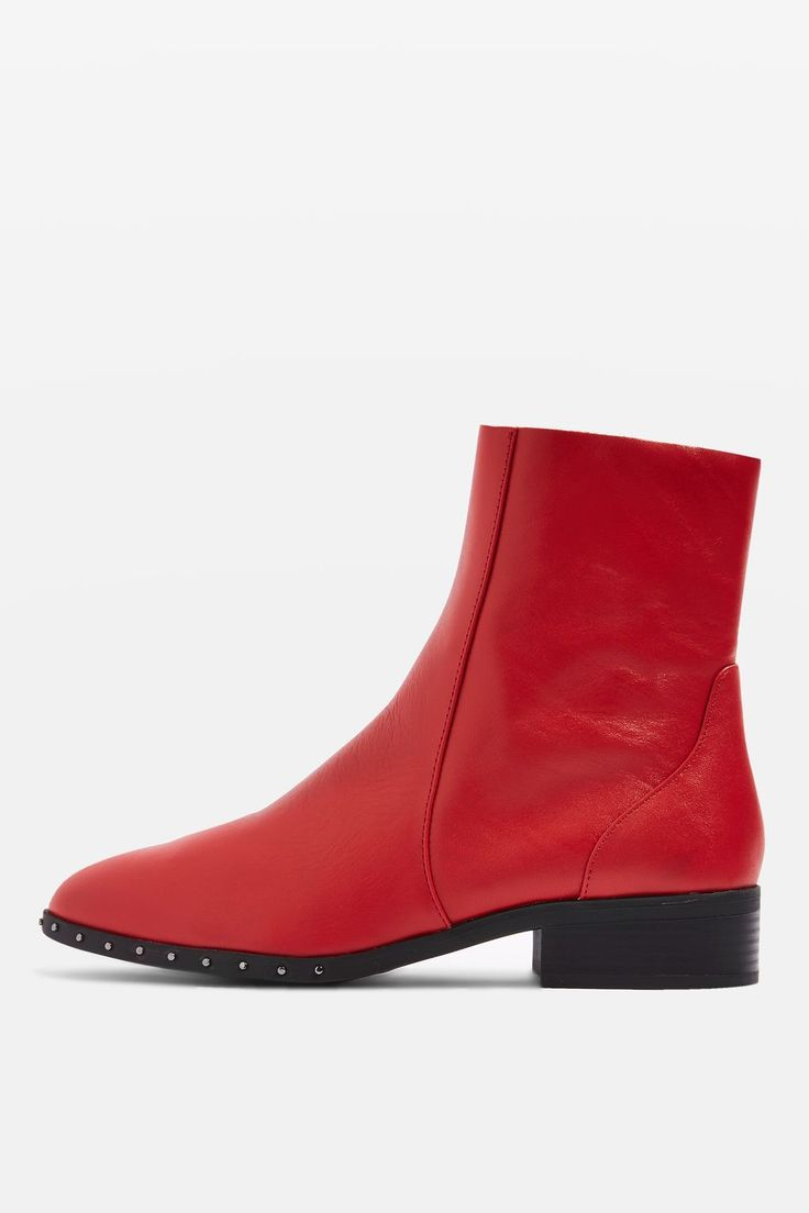 30 Fall Boots You Can Actually Walk In+#refinery29  Topshop Kash Leather Socks Boots, $80, available at Topshop. (not in my size currently)