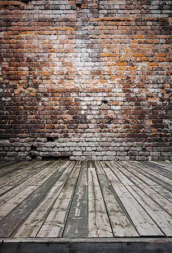 Brick Backdrop Vinyl Photography Backdrop Floordrop by HuaBackdrop
