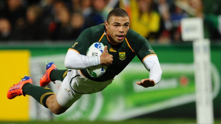 """#4 Bryan Habana, South Africa - $729,000 - Another South African who plays his rugby abroad in France is the once-dubbed """"fastest man in rugby"""". The speedy wing was voted 2007's IRB Player of the Year and took the Springboks to a try-scoring record during the 2011 World Cup.  Date of Birth: 12 June 1983 City of Birth: Johannesburg, South Africa. Position: Wing"""