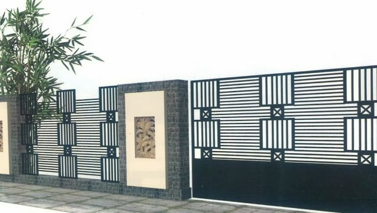 minimalist house fence design desain pagar rumah