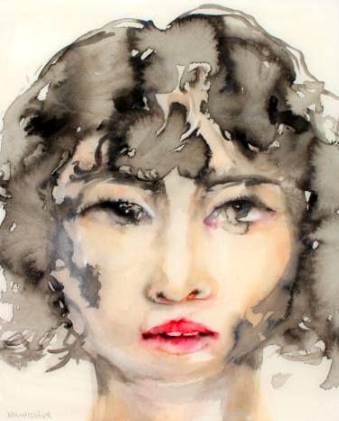 "Saatchi Art Artist Lisa Krannichfeld; Painting, ""Portrait Study 2.105"" #art"