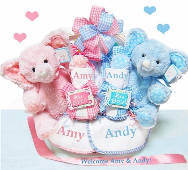 27 best twins and multiples baby gifts images on pinterest twin double the blessings twins baby gift basket personalized twins can mean double trouble for gift givers your new 2 favorite kids will get a kick out of negle Image collections