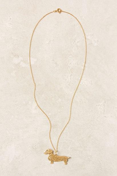 Need. Dachshund Necklace #anthropologie